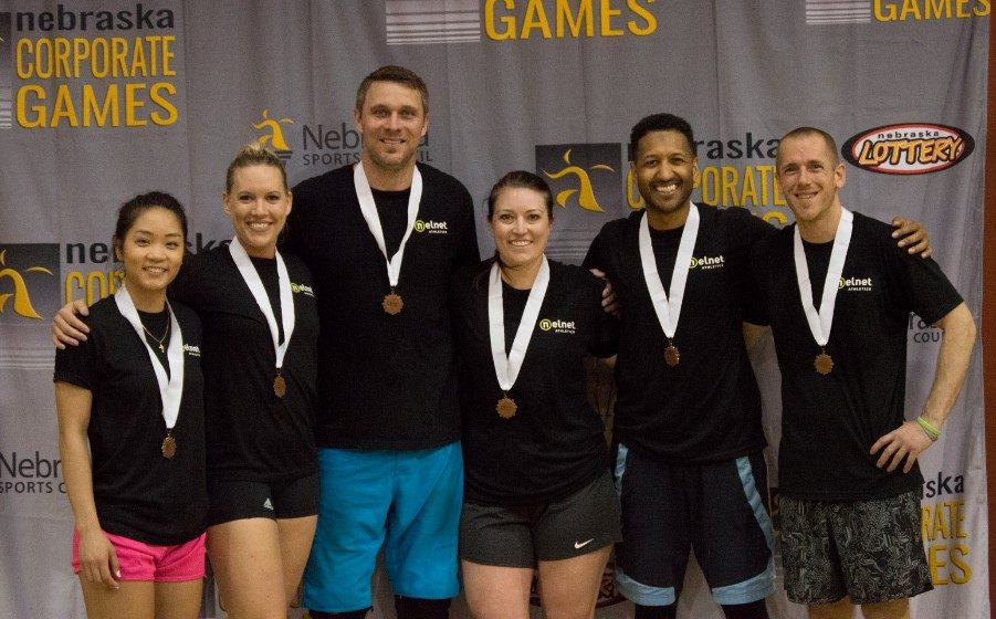 Nelnet Associates Nebraska Corporate Games Volleyball medals
